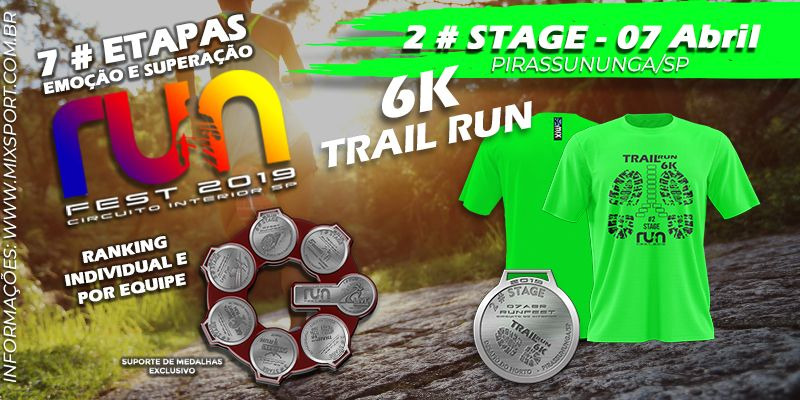 2# Stage - Circuito Interior Run Fest - DESAFIO TRAIL RUN 6K Pirassununga SP